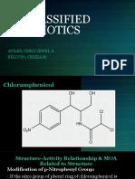 Unclassified Antibiotics (Chloramphenicol)
