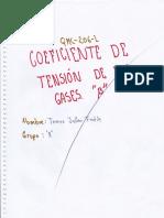 informe fq coeficiente de tencion de los gases