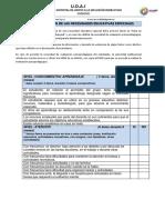 Ficha de Detección de Las Necesidades Educativas Especiales