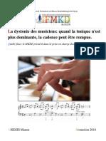 DIJON-2016-GREGIS-La_dystonie_des_musiciens_m�moire