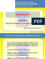 TEORIAS SOCIOCRIMINOLOGICAS