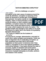 Role of the Youth in Combating Corruption