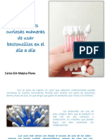 Carlos Erik Malpica Flores - 7 Increíbles curiosas maneras de usar bastoncillos en el día a día