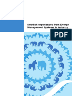 Swedish expiriences from energy management systems in industry