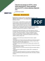 Distribucin de Energa en Cctv y Otros Sistemas Electrnicos Cmo Alimentar Cmaras de Cctv y Otros Sistemas Spanish Edition by Sergio Bellechasse Lissabet b00ub5nj1q