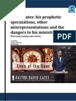 David Gates-his Prophetic Speculations