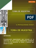 TOMA DE MUESTRA EN LABORATORIO