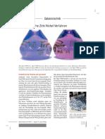 Galvanotechnik Ausgabe September 2015 Neue Alkalische Zink-Nickel-Verfahren