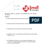 Small Group Question 11.24.18