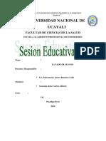 Sesión Educativa - Lavado de Manos