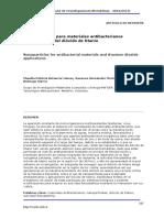 Nanopartículas Para Materiales Antibacterianos y
