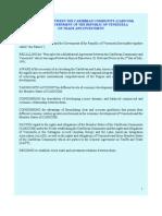 CARICOM-Venezuela - Trade & Investment Agreement