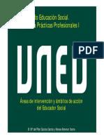 2017-2018 Areas de Intervención y Ámbitos de Acción Del Educador Social