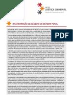 DISCRIMINAÇÃO DE GÊNERO NO SISTEMA PENAL