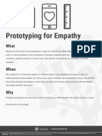 Prototyping for empathy