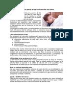 Tips Para Tratar La Tos Nocturna en Los Niños