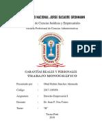 Monografia-garantías Reales y Personales