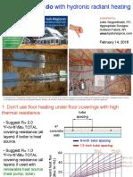 Common Errors in Hydronic Radiant Panel Heating Systems John-Siegenthaler