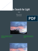 the search for light