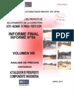 Volumen VIII, análisis de precios unitarios.pdf