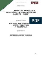 9.0 Especificaciones Tecnicas Cerco Boleteria CD