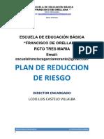 Plan de Reduccion de Riesgo Maria Olya