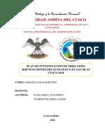 Plan de Investigacion de Mercados . UAC