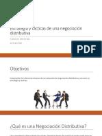 Estrategia Y Tácticas de Una Negociación Distributiva (1)