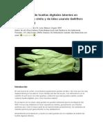 Visualización de Huellas Digitales Latentes en Guantes de Vinilo y de Látex Usan