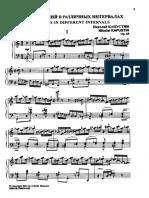 Op.68 - Five Etudes in Different Intervals