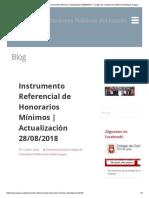Instrumento Referencial de Honorarios Mínimos _ Actualización 28-08-2018 – Colegio de Contadores Públicos Del Estado Aragua
