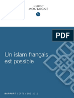 Rapport Un Islam Francais Est Possible