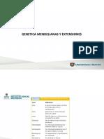 Clase. Genetica Mendeliana y Extencion - Genealogias