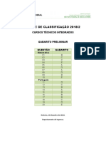 Gabarito Preliminar 2018 2