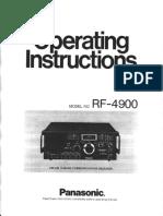 Panasonic Rf 4900 Operating Instruction (1)
