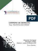 T3 - Psicopatologia Forense