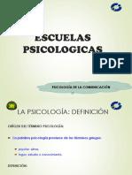 CLASE 2 - Escuelas Psicologicas