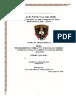 Monografia de Prodedimiento Operativo Policial en Delitos Contra La Vida, El Cuerpo y La Salud Aborto Doloso
