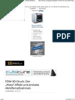 """FDM-3D-Druck- Der """"Warp""""-Effekt Und Probate Abhilfemaßnahmen - 3Druck"""