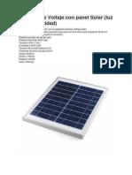 Inversor de Voltaje Con Panel Solar