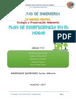 Plan de Ecoeficiencia en El Hogar