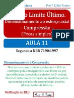 Aula 11 ELU Dimensionamento à Compressão Peça Simples