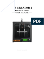 Manual usuario impresora 3d Me Creator 2