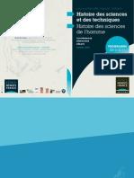 Programme 2010-2011 d'histoire des sciences et des techniques de l'EMF, Poitiers, France