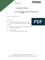 22-11-2018 Agenda Claudia Pavlovich