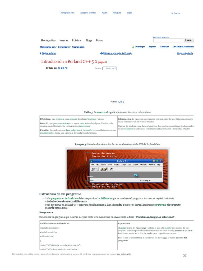 Introducción A Borland C 5 0 Página 2