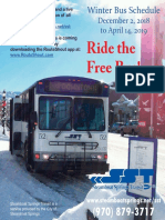 Steamboat Springs Transit 2018-2019 Local Bus Service Schedule