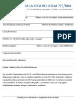 2019 VOICE Scholarship Request - Spanish