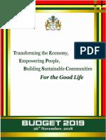 Budget 2019 Speech