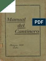 Manual del cantinero